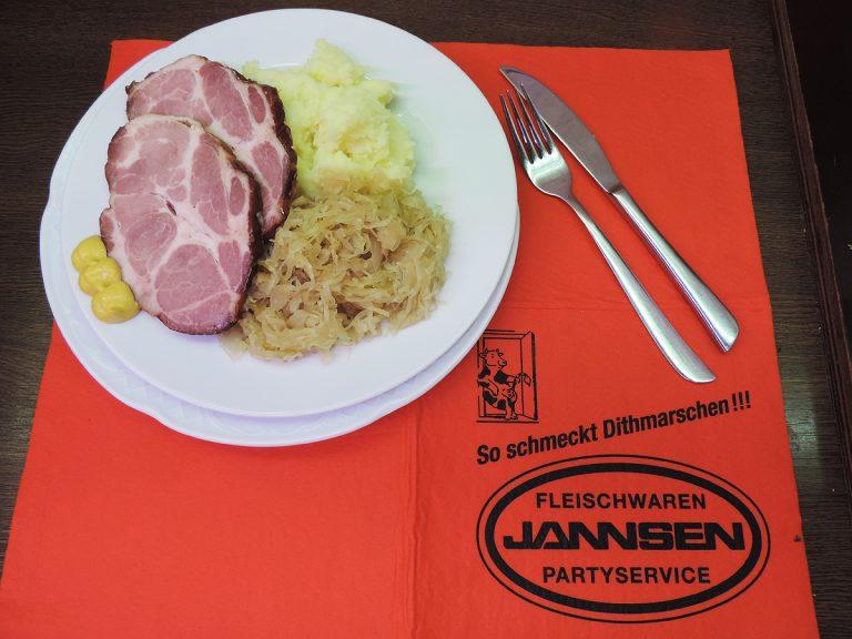 Kasseler, Sauerkraut und Kartoffelpüree | Jannsens Mittagstisch aus Meldorf