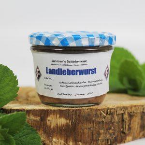 Landleberwurst im Glas | Jannsen Fleischwaren